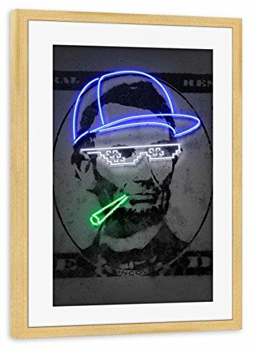 artboxONE Poster mit Rahmen Kiefer 75x50 cm Lincoln von Octavian Mielu - gerahmtes Poster