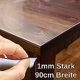 Tovaglia realizzata in pellicola protettiva trasparente con spessore da 1 mm, lunghezza 90 cm, trasparente, 90 x 90cm