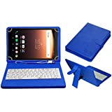 Acm Usb Keyboard Case For Alcatel A3 10 Tablet Cover Stand With Free Micro Usb Otg - Blue