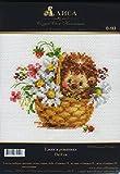 Stickpackung Hedgehog in daisies - Igel im Blumenkorb, gezählter Kreuzstich