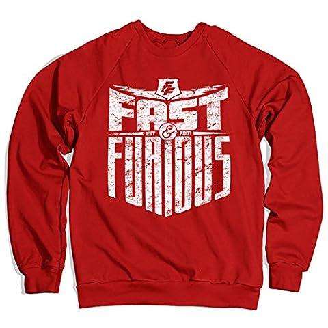 Officiellement Sous Licence Fast & Furious - Est. 2007 Sweatshirt (Rouge) Small