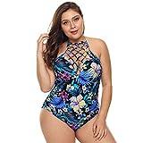 Summer Beach one-Piece Swimsuit Women's One-Piece Tummy Control Swimsuit Cutout Swimming Costume Sexy Backless Swimwear Summer Beachwear Plus Size M-3XL one-Piece Swimsuit