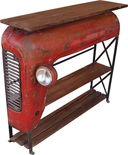 Guru-Shop Etagère/buffet de Tracteur Avec Plaque en Bois - Modèle 1, Rouge, 108x120x31 cm, Commodes Meubles à Tiroirs Buffets