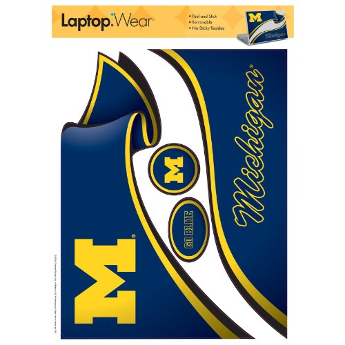 RoomMates Michigan Wolverines schälen und Stick Laptop Cover -