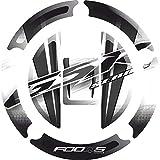 Cap Pad Cap-pad Cappad pegatina Cubierta Tankpad Tank pad Tranque de combustible de la motocicleta 3 d 3d Gel Decal Gas para Suzuki GSR 600 GSR600 650 GSR650 750 GSR750 2004-2016 (Blanco)