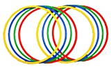 Boje Sport 8er Set Ringe/Reifen - 4 Farben - Durchmesser: ca. 70 cm