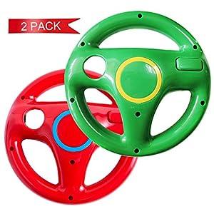 DOYO 2 Stücke Rot und Grün Wii Lenkrad wii controller für Nintendo Switch,Lenkrad Racing Wheel für Mario Kart,Panzer…
