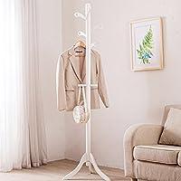 Perchero de Sólidos de madera de ropa de rack de piso de estilo Hogar Dormitorio de la chaqueta de rack Salón de estar Triángulo de color crema de rack ( Color : B )