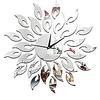 Unbekannt Wanduhr DIY Kreisspiegel Uhr Wanddekorationen Sonne Dreidimensionale Wandaufkleber Moderne Kreativität Ornamente Wohnzimmer Öffentliche Plätze,Silver