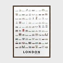 Superbritánico - Póster edición limitada London (monumentos de Londres - 50x70cm)