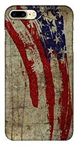 Blutec Vintage American Flag Design 3D Printed Hard Back Case Cover for Apple iPhone 7 Plus