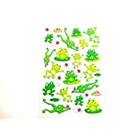 Frog Stickers Kids, Childrens Labels, Fun Stickers for Party Bags, Craft & Decoration