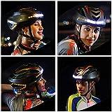 GMtes Radfahren Smart Remote Lenkhelm, LED Fahrradhelm Licht EPS Ultralight Outdoor Mountainbike Reiten Schutzhelme, Scheinwerfer Rücklicht Blinker 3 in 1