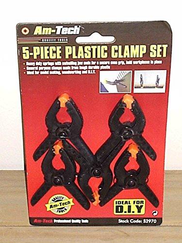 Am-Tech 5 Stück 2 Zoll Plastic Clamps, S2970