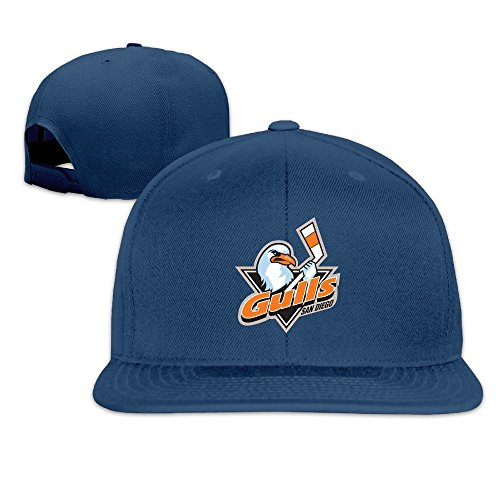 hittings-adult-san-diego-gulls-fantastic-snapback-adjustable-hats-navy