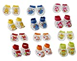 EIO®Baby Mittens and Booties Combo of 6 (Age - 0-6 months)