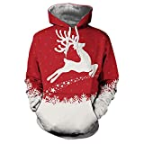 Marlene (R) Herren Weihnachten Pullover-Herbst Winter 3D-Weihnachts Drucken Langarm Hoodie Top (-35%) M~3XL