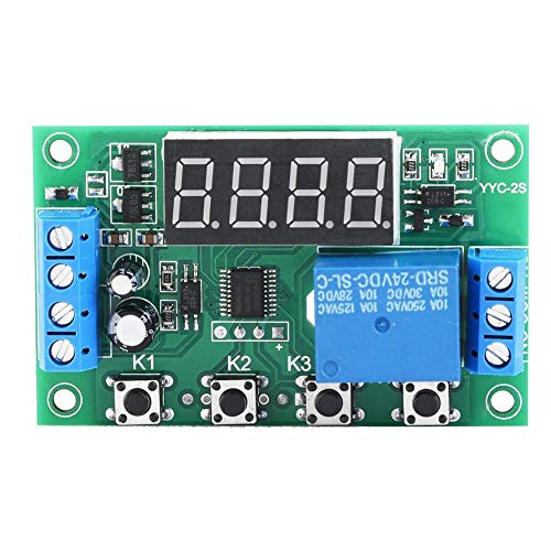Zeitverzögerungsmodul LED-Anzeige Einstellbares Zeitrelais-Automatisierungssteuerungsschaltermodul(24V) -
