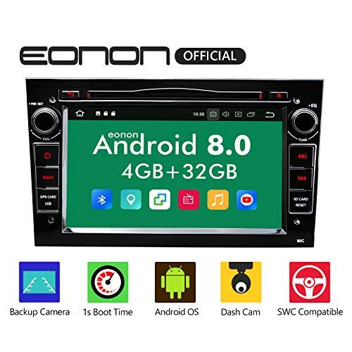 "eonon GA9156B Android 8 fit Opel Antara Astra Meriva Vectra Indash 17,8cm 7"" Touchscreen Indash Digital Video Audio Stereo Autoradio GPS DVD USB FM RDS Bluetooth support WiFi DAB+ Headunit Black"