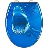EISL ED69SHARK Shark Abattant WC en Duroplast avec frein de chute/déclipsable