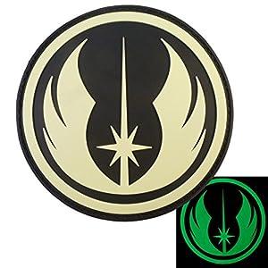 Jedi Order Lumineux Star Wars GITD PVC Gomme 3D Velcro Écusson Patch