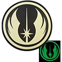 Jedi Order Visibile al Buio Star Wars GITD PVC Gomma 3D Velcro Toppa Patch