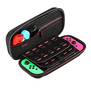 Tasche für Nintendo Switch, Tragetasche Verbesserte Version mit benutzerfreundlicheres Design, perfekt für Nintendo Switch Konsole & offizieller zubehör
