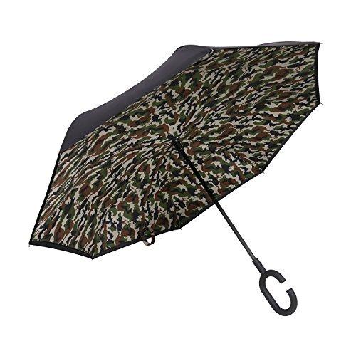 Plemo Paraguas Apertura Inversa, Paraguas de Doble Capa con Autonomía