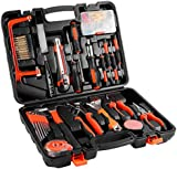 Maudpower Tool Kit with Case, 100 pcs Precision Home Depot Unboxing Tools Set for Kids - Great Gift for Men, College Student (100-Piece)