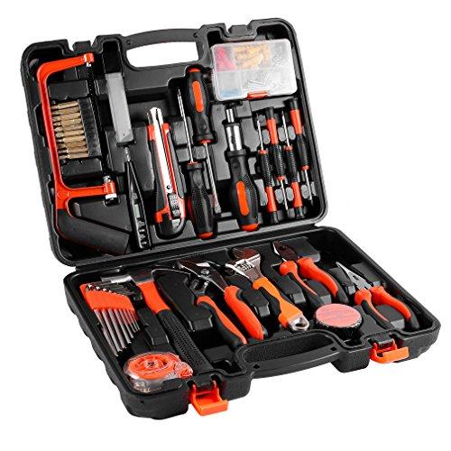 100-teiliger Universale Werkzeugkoffer, Premium Werkzeugset für den Heimwerker, Werkzeugsortiment mit mattiert Werkzeug-Box