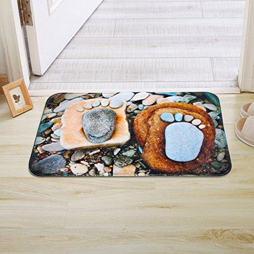 PEIWENIN-Colchones de baño pies Grandes Puerta de Piedra alfombras de Deslizamiento alfombras...