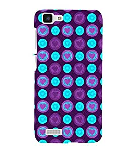 For Vivo Y27 :: VivoY27L many heart, circle, purple background Designer Printed High Quality Smooth Matte Protective Mobile Case Back Pouch Cover by APEX