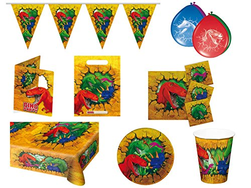 Folat 00251–Juego para fiesta Dinosaurios, 48Piezas