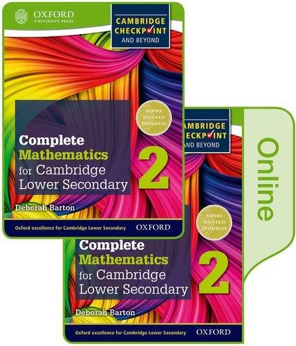Complete mathematics for Cambridge lower secondary. Student book. Per la Scuola media. Con e-book. Con espansione online: 2 (Cie Checkpoint)