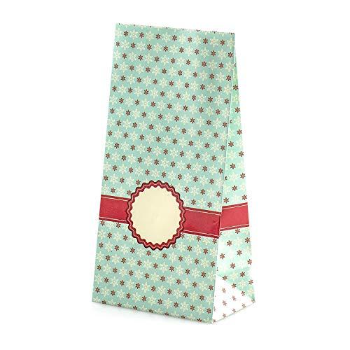 pajoma Adventskalender Snow Christal, 1 x 24 Tüten zum Befüllen, inkl. Zahlensticker, Weihnachten