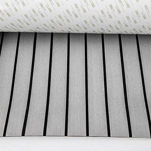 Schaum EVA Bodenbelag Teak Fußboden Selbstklebend Matt 240CMx900x6MM Grau&Black/Neu Grau Schaum Bodenbelag Teak Fußboden Selbstklebend Matt Für Yacht Boot EVA