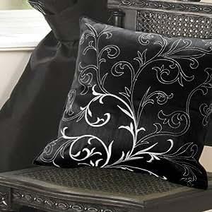 Baroque housse de coussin noir 45 x 45 cm for Housse de coussin baroque