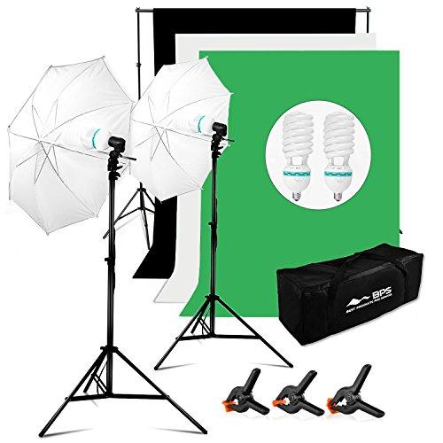BPS Fotostudio/Studio Komplett-Set mit Fotolampen
