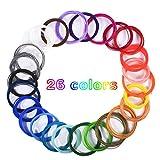 Dioxide Filamento de pluma 3D, 26 Colores Impresora PLA 3D consumibles Diámetro 1,75 mm 5 Metros...