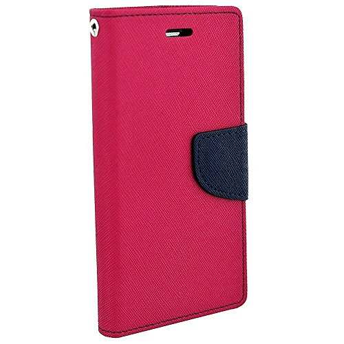 Avzax Diary Wallet Style Flip Cover Case With Magnetic Lock for Panasonic Eluga Icon 2 (Pink)