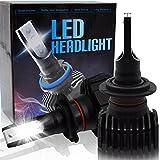 BeiLan H7 Kit de luces delanteras LED para automóviles Kits de conversión de bombillas con 16pcs LED Chip 4500LM 6500K Super brillante Luz blanca DC9-32V Reemplace por faros halógenos
