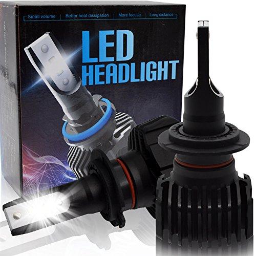 BeiLan H7 LED Kit fari per auto Kit conversione lampadine per auto con chip LED 16pcs Seoul-CSP 4500LM 6500K Super Bright White Light DC9-32V Sostituisci per lampadina HID