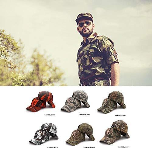 Imagen de winnerruby  de camuflaje  de béisbol unisex ajustable para acampar al aire libre caza, sombrero de la selva airsoft táctica senderismo camo casquette sombreros