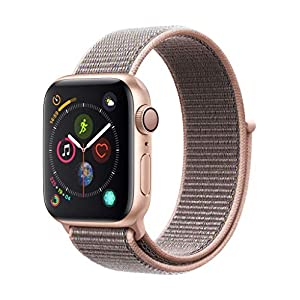 Apple Watch Series 4 (GPS) con caja de 40 mm de aluminio en oro y correa Loop deportiva rosa arena
