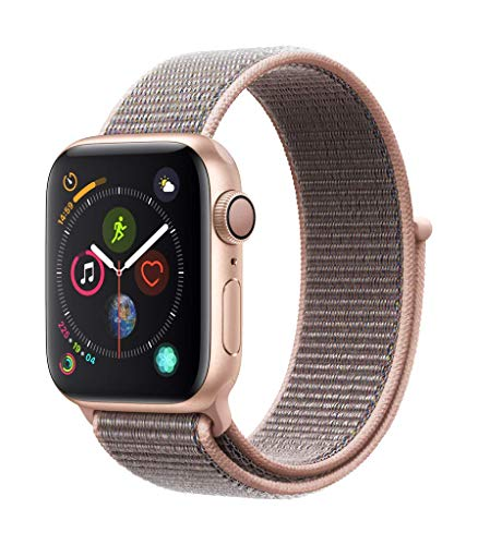 Apple Watch Series 4 (GPS) 40 mm Aluminiumgehäuse, Gold, mit Sport Loop, Sandrosa