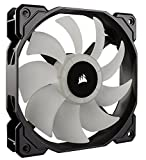 Corsair CO-9050060-WW SP Series SP120 120 mm Low Noise High Pressure RGB LED Case Fan with Lighting Controller - Black