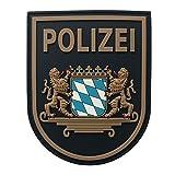 JTG Ärmelabzeichen Polizei Bayern - Patch, polizeiblau / 3D Rubber Patch