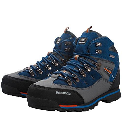 MatchLife Herren Camouflage Wanderschuhe Sports Schuhe Style7-Royal Blau