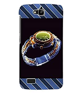 ColourCraft Beautiful Watch Design Back Case Cover for HUAWEI HONOR HOLLY