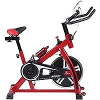 Preisvergleich für Blackpoolal SP6901 Hometrainer LCD Fitnessfahrrad Heimtrainer Fahrrad Fitness Bike Indoor Cycle Trimmrad Cycling Rad Sattel, Fitnessbike Fahrradtrainer Fahrrad Ergometer bis 120 KG (Rot)